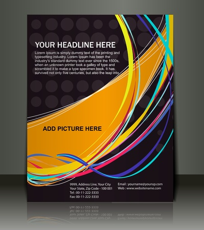 Vector editable Presentation of Flyer/Poster design content background. Stock Vector - 10054899