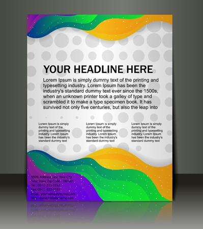 flyer design: Vector editable Presentation of FlyerPoster design content background.
