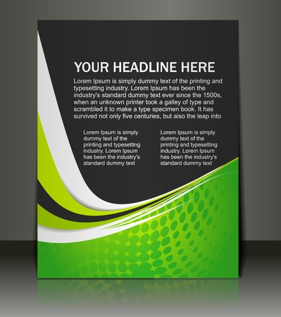 leaflet design: Vector editable Presentation of FlyerPoster design content background.