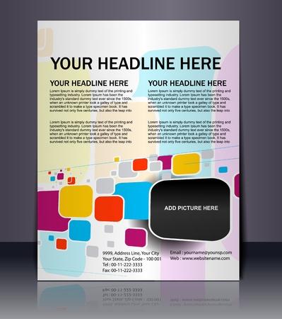 bijsluiter: Vector bewerkbare Presentatie van Flyer  Poster ontwerp-inhoud achtergrond.