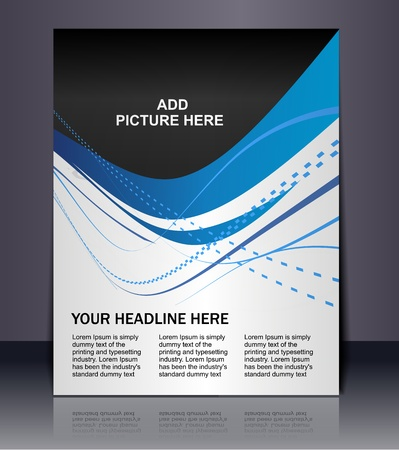 poster design: Vector editable Presentation of FlyerPoster design content background.