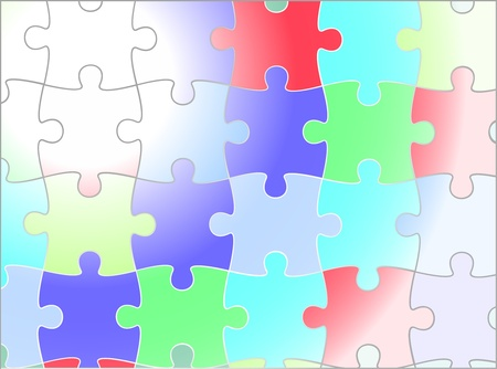 jigsaw puzzle vector background design, Vector