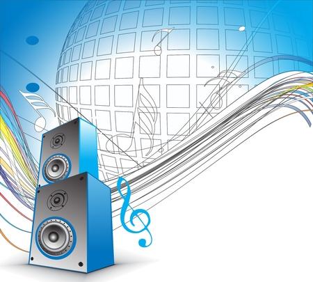 boite a musique: Utilisez des notes de musique avec bo�te � musique pour la conception, illustration vectorielle