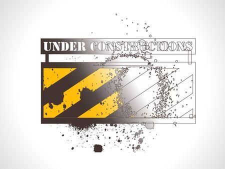 repair road: Under construction vector grunge banner.