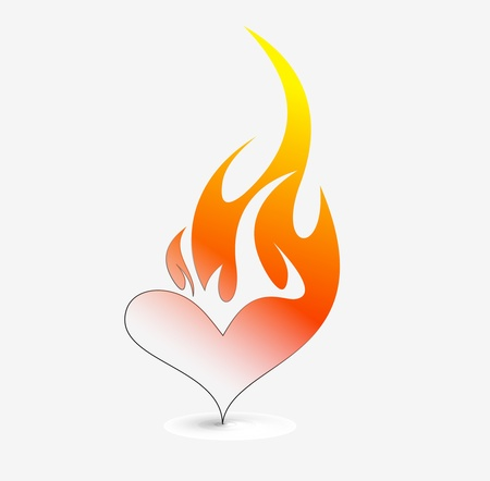 fire icon  - vector illustration Vector