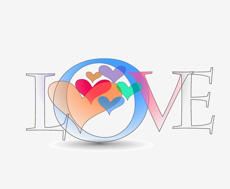 I love you text Stock Vector - 12335908