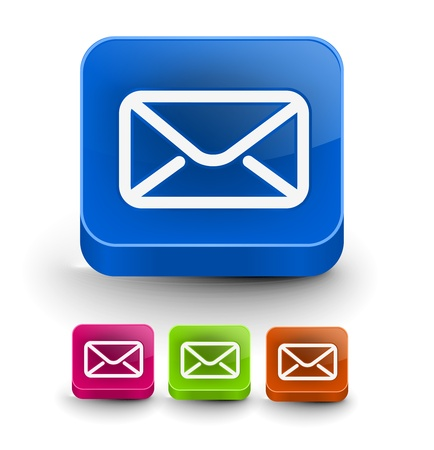 spam mail: Set of vector email icon web design element.