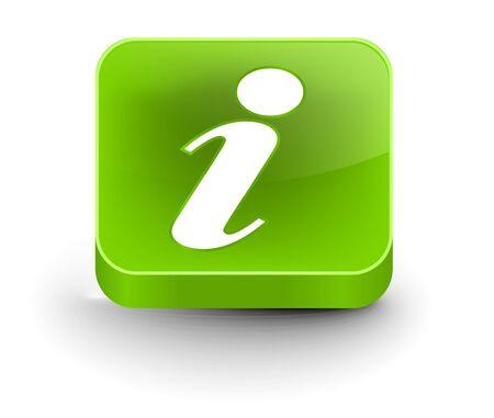 vector glossy information web icon design element. Vector