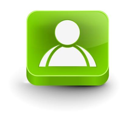 3d vector user web icon design element.  Stock Vector - 10055007