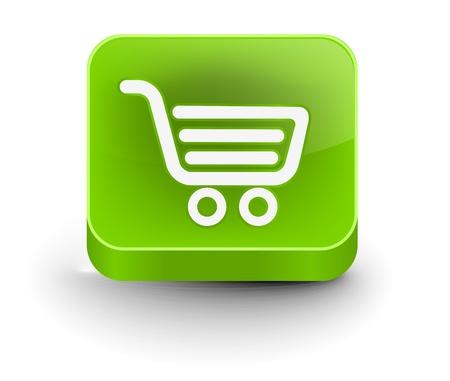 vector shopping web icon design element. Stock Vector - 10055020