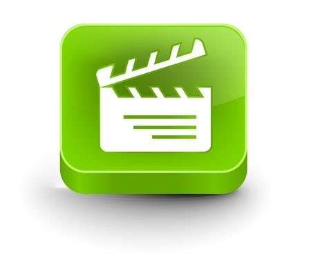 board of director: Vector lucido batacchio scheda web icona elemento di design.