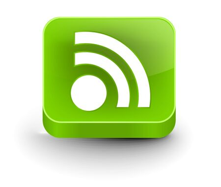 rss feed icon: 3d vector rss icon design element.