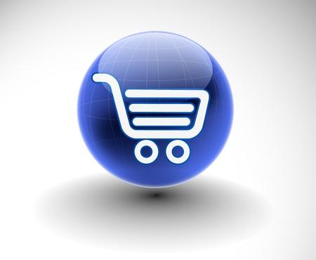 vector shopping web icon design element. Stock Vector - 10054865