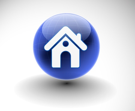 built: 3d vector home icon design with isolated on white.