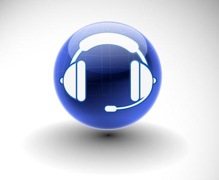mobile headset: elemento de dise�o icono de vector auricular brillante web.