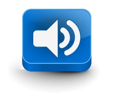 vector speaker icon web design element.  Vector