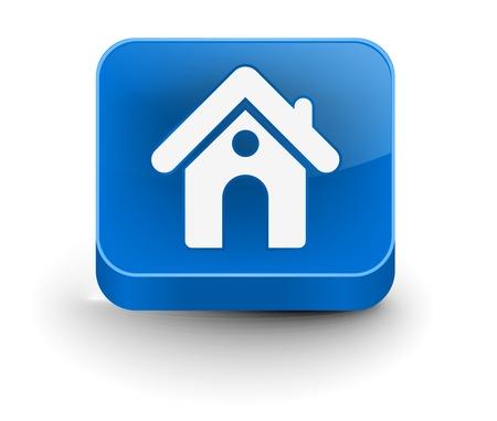 icone maison: 3d vecteur ic�ne du design � la maison avec isol� sur blanc. Illustration