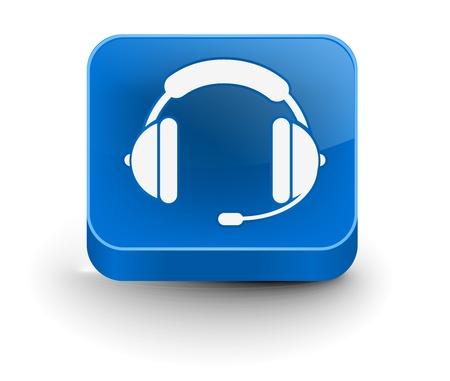 headset business: elemento di vettore lucido auricolare web icona design. Vettoriali
