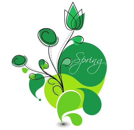 Abstract colorful spring flower pattern background. Stock Vector - 10054826