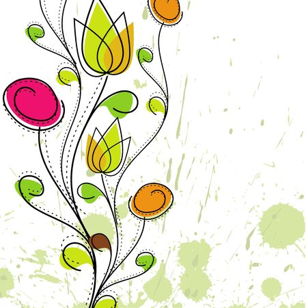 Abstract colorful spring flower pattern background.  Vector