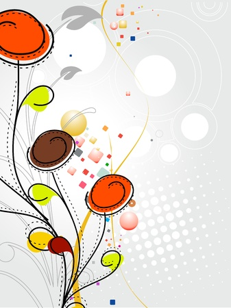 spring: Abstract colorful spring flower pattern background.
