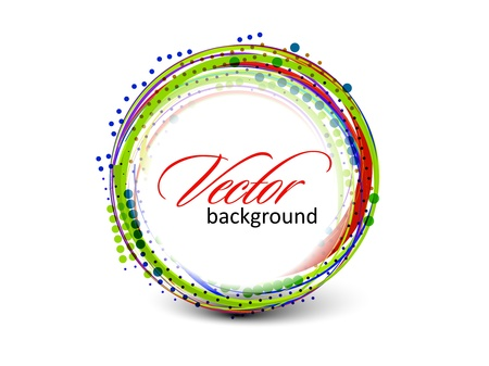 Abstract colorful circle banner for your text. Vector design.  Vector
