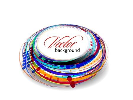 swirl backgrounds: Astratto banner cerchio colorato per il testo. Disegno vettoriale. Vettoriali