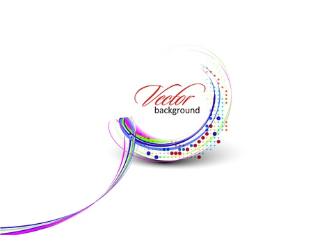 creative finance: Abstract colorful circle banner for your text. Vector design.