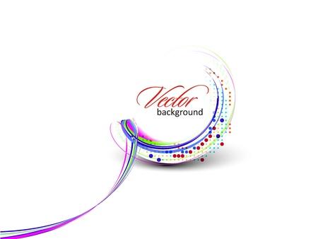 Abstracte kleurrijke cirkel banner voor uw tekst. Vector design.  Vector Illustratie