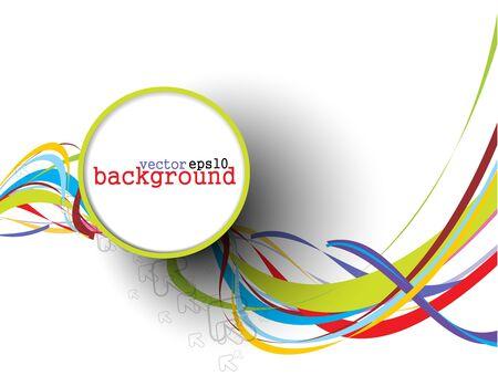 Abstracte kleurrijke cirkel banner voor uw tekst. Vector design.  Stock Illustratie