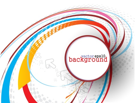 Abstract colorful circle banner for your text. Vector design.  Stock Vector - 10054903