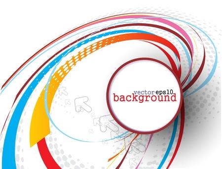 kreis: Abstrakt colorful Kreis Banner f�r Ihren Text. Vector Design.  Illustration