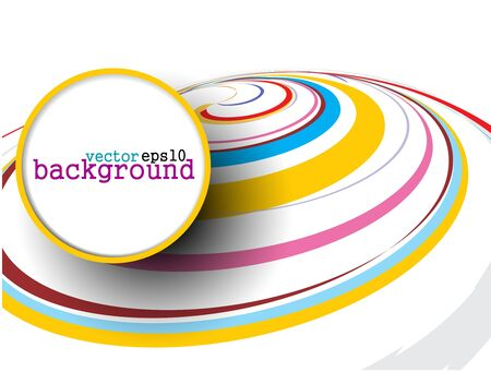 circle design: Abstract colorful circle banner for your text. Vector design.
