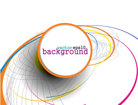 Abstract colorful circle banner for your text. Vector design. Stock Vector - 10054891