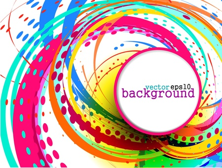 your text: Abstract colorful circle banner for your text. Vector design.