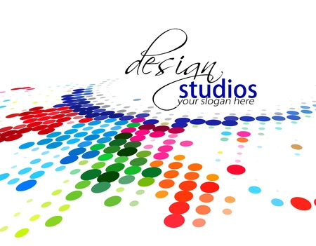 colori: astratto cerchio colorato, illustrazione vettoriale