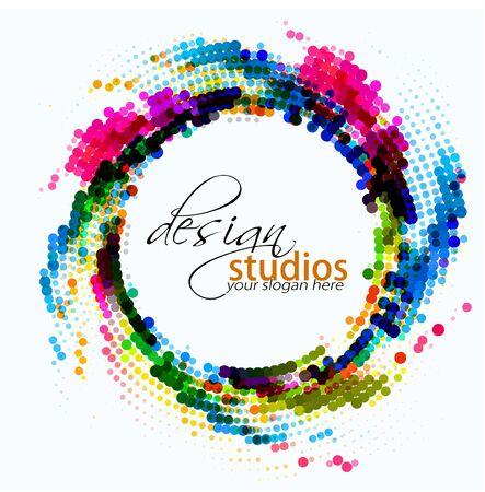 abstracte kleurrijke cirkel achtergrond, vector illustration Stock Illustratie