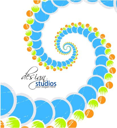 Colorful wave circle abstraction. Vector illustration  Vector