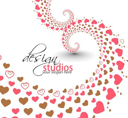 abstract heart valentine background design. Vector