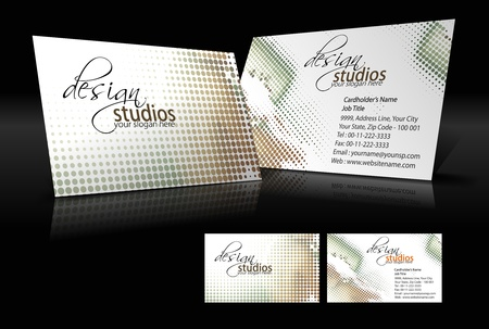 letterhead: vector business card set , elements for design.