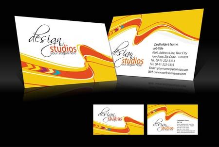 papier en t�te: jeu de cartes vecteur d'affaires, des �l�ments de conception. Illustration