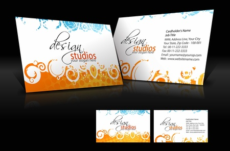 business card template: vector business card set , elements for design.