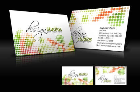 vector business card set , elements for design. Stock Vector - 10055205
