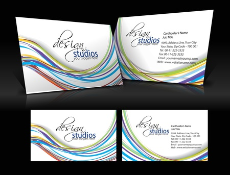 vector business card set , elements for design.  Stock Vector - 10055176