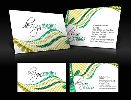 vector business card set , elements for design. Stock Vector - 10055233