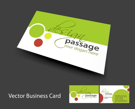 funky background: vector business card set , elements for design.