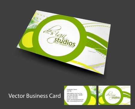 bijsluiter: vector visitekaartje set, elementen voor ontwerp. Stock Illustratie