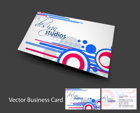 bright card: vector business card set , elements for design.