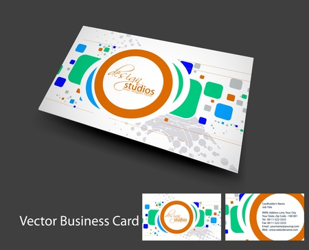 vector business card set , elements for design.  Stock Vector - 10055222