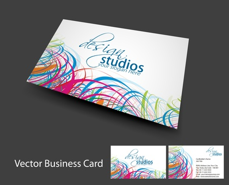 vector business card set , elements for design.  Vector